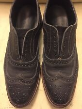 Allen Edmonds Neumok Navy Blue Oxford Wingtip Shoes Leather Size 9D  Made In USA