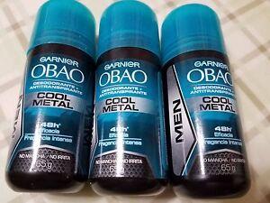 3 pack Garnier  Obao Antiperspirant Deodorant Cool Metal for Men  Made in Mexico