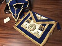 Vintage Lot Masonic Regalia Apron Jewel Sash Brown Case Leicestershire & Rutland