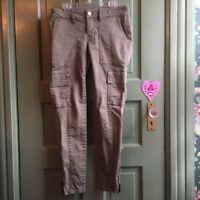 WHBM Women's The Skimmer Olive Green Skinny Cargo Pants Skinny Jeans sz 00 EUC