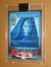 ✨ 2019 STAR WARS ARCHIVE RAY PARK DARTH MAUL AUTO AUTOGRAPH /5 SIGNED MOVIE CARD