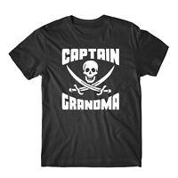 Captain Grandma Skull And Swords Funny Pirate Grandparent's Day T-Shirt