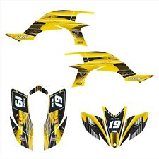 YFZ 450 graphics deco kit for 2003 2004 2005 2006 2007 2008 Yamaha #3333 Yellow