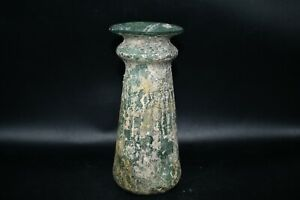 Authentic Ancient Roman Glass Cup Circa Late 4th Century A.D.