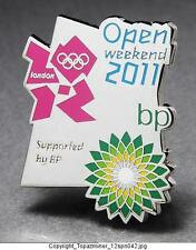 OLYMPIC PINS 2012 LONDON ENGLAND UK SPONSOR BP OPEN WEEKEND 2011 LOGO