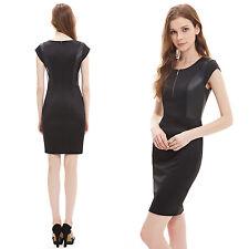Ever Pretty Womens Round Neck Dress Fashion Casual Bodycon Black Dresses 05306