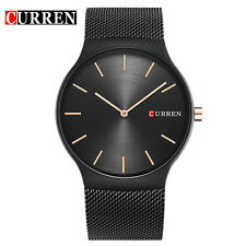 CURREN 8256 Black Rose Gold Pointer Quartz Wristwatch Simple Style Sports Watch