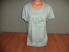 New Womens XXL Old Navy Gray Tee T Shirt Top Love Is Electric Tiny Fit
