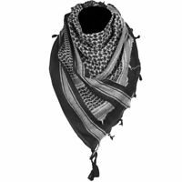 Mens Womens Tactical Shemagh Military Army Neck Arab Scarf Scrim Headscarf Black