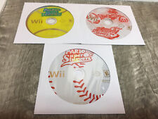 MARIO SPORTS LOT 3 GAMES Super Sluggers + Strikers Charged + Power Tennis Wii