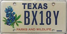 GENUINE American Texas Parks & Wildlife  USA License Licence Number Plate BX18Y