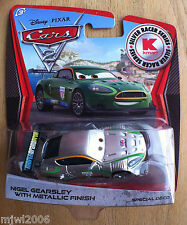 Disney PIXAR Cars 2 SILVER RACER SERIES Kmart NIGEL GEARSLEY NEW METALLIC FINISH