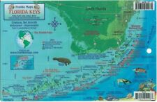 Florida Keys Dive Map & Reef Creatures Guide Laminated Fish Card by Franko Maps