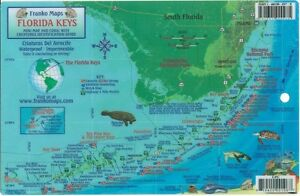 Florida Keys Dive Map & Reef Creatures Guide Waterproof Fish Card by Franko Maps