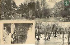 Lot 4 cartes postales anciennes AVALLON le cousin