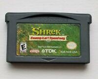 Shrek: Swamp Kart Speedway Nintendo Game Boy Advance plays in DS Lite SP System