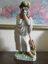 Vintage Herend Hungary Mournful Shepherd Peasant Porcelain Figurine # 5427 11""