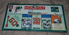 Miami Dolphins Monopoly Collectors Edition NFL Football Game Sealed