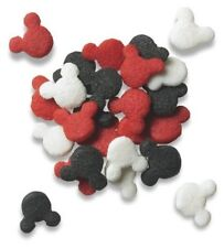 Mickey Mouse Edible Sprinkles - Red, White, Black - 2.0 oz