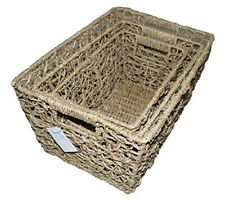 Danielson's Seagrass Shelf Storage Basket (Set of 3)