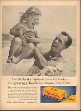 1950's Vintage ad  Verichrome Pan Kodak Film Father Little girl Photo   072819