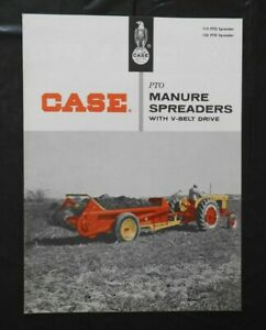"1958 J I CASE ""MODEL 115 & 135 PTO MANURE SPREADER"" BROCHURE VERY NICE SHAPE"