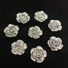 100Pcs Imitación Plana falso Perlas Artesanía Decoración de suministro de joyería para armar uno mismo álbum de recortes