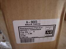96V3 4059001 VERMEER BALER PICKUP TOOTH LOT OF 5  403F, 403G, 504F, 504G, 605E +