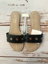 NWT LC Lauren Conrad Black Sandals with Studs Size Small (5/6)