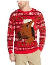 ALEX STEVENS MENS UGLY CHRISTMAS SWEATER  Horse Rider Size-Large NEW