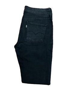 Original Levi's ECO Straight Leg Black Stretch Denim Jeans W30 L33 ES 7960