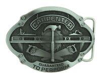 Carpenter Tradesman Metal Belt Buckle