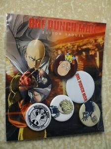 One Punch Man Badge Pack 6 designs Officially Licensed Product by GB Eye