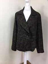 Viyella Black Bronze Lace lacy floral flowers evening party jacket UK 16 (BN)