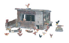 Chicken Coop Kit D215- Woodland Scenics ******** HO Model Trains Accessories