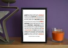 Framed - 30 Seconds To Mars - City Of Angels - Poster Art Print - 5x7 Inches
