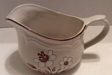 Cumberland MayBlossom Gravy/Sauce Boat Japan  Stoneware Tan & Brown