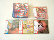 "King Crimson JAPAN 4 titles Platinum SHM-CD DVD-AUDIO 7""Mini LP BOX SET"