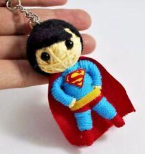 Superman Man of Steel Superhero Voodoo String Keychain Keyring Handmade Doll USA