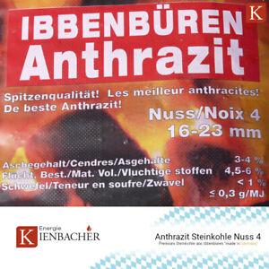 25kg Anthrazit Nuss 4 Premium Steinkohle Heizprofi Ibbenbüren Kohle Briketts