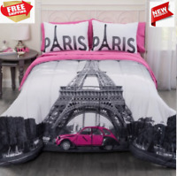Complete Set Home Bedroom Real Paris Eiffel Tower Design Full FREE FAST SHIP