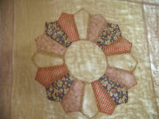 VINTAGE PASTEL COLORS DRESDEN PLATE TOPPER, NEEDS LOVE   #31 - REDUCED!!