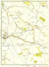 LANCASHIRE.North End,Halewood,Mill Wood,Hunts,Speke,Tarbock Green 1935 old map