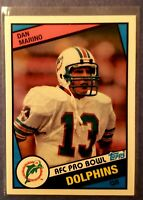 🔥2012 NFL,Topps, Dan Marino (DOLPHINS) AFC Pro Bowl Reprint, Football Card #123