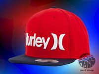 New HURLEY One And Only Mens Red Snapback Cap Hat
