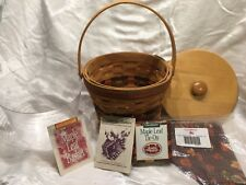 New Longaberger 1996 Shades of Autumn Maple Leaf Basket Lid Liner Protector Card