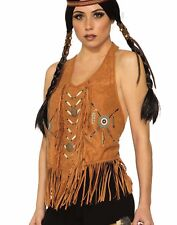Western Womens Adult Cowgirl Country Brown Costume Halter Top