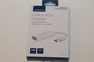 Insignia NS-PCA3V USB to VGA Adapter OPEN BOX