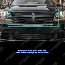 Fits 2011-2013 Dodge Avenger Black Billet Grille Grill Insert