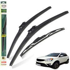 "Ssangyong Korando 2012-on replacement set of 3 wiper blades HYBRID 24""16""14""C"